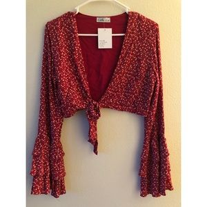 Tops - Long-sleeved Crop Top- new with tags